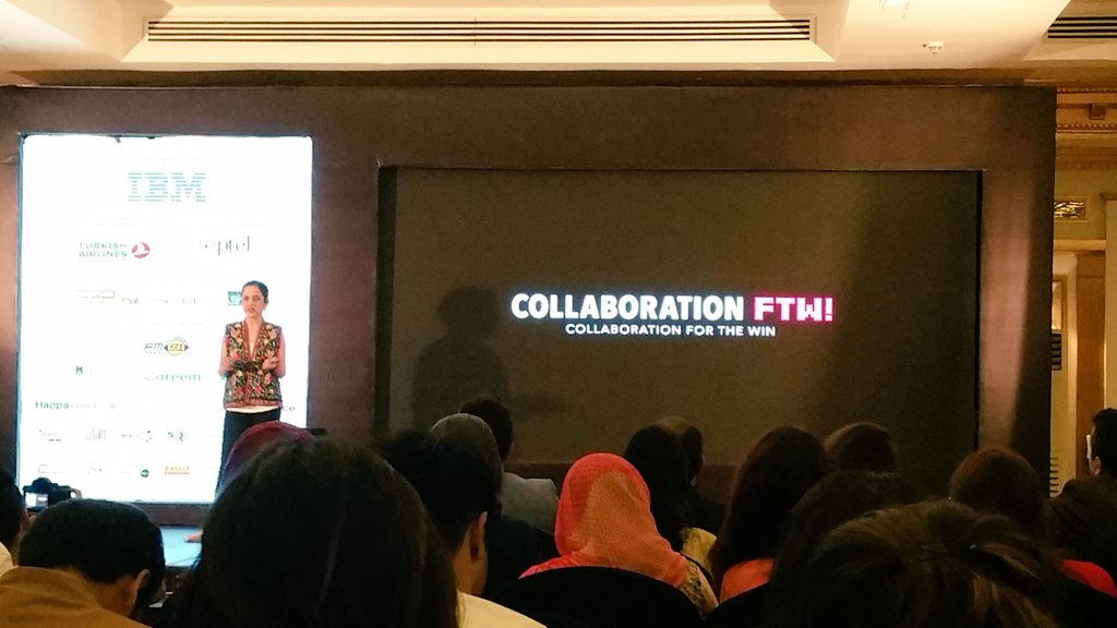 The art of collaboration FTW #nd2c17 #nd2c Samya Arif #Coldplay <br>http://pic.twitter.com/hNtArAM8Nc