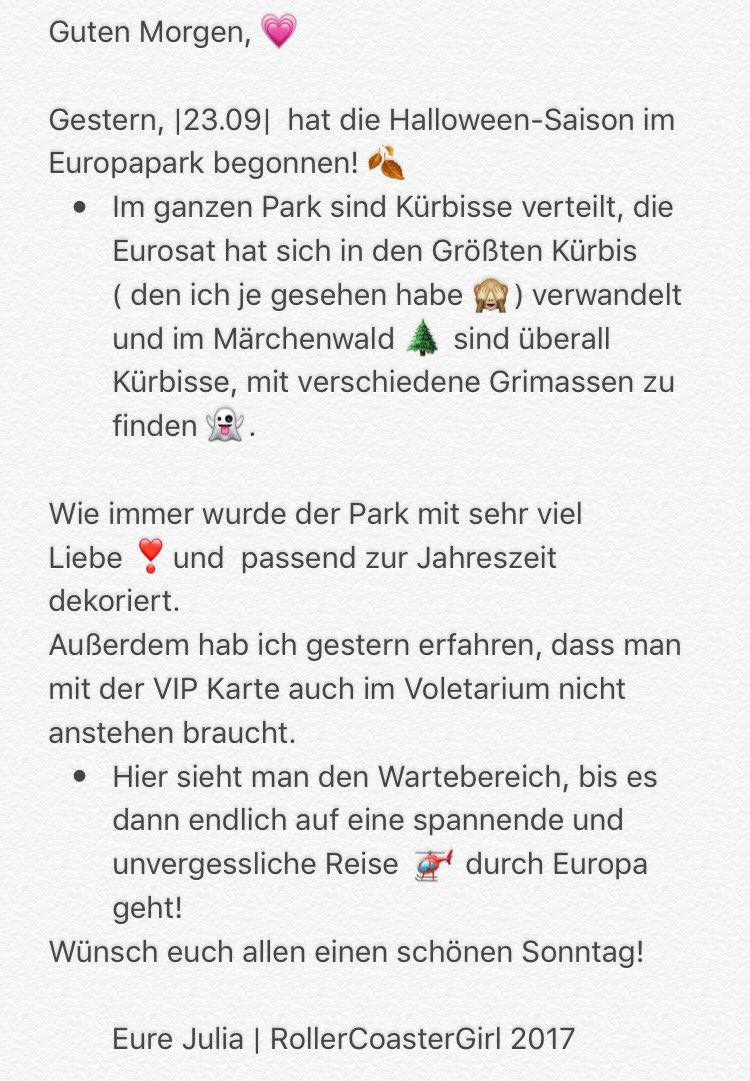 Vip Karte Europapark.Julia Schwab On Twitter Halloweensaison Im