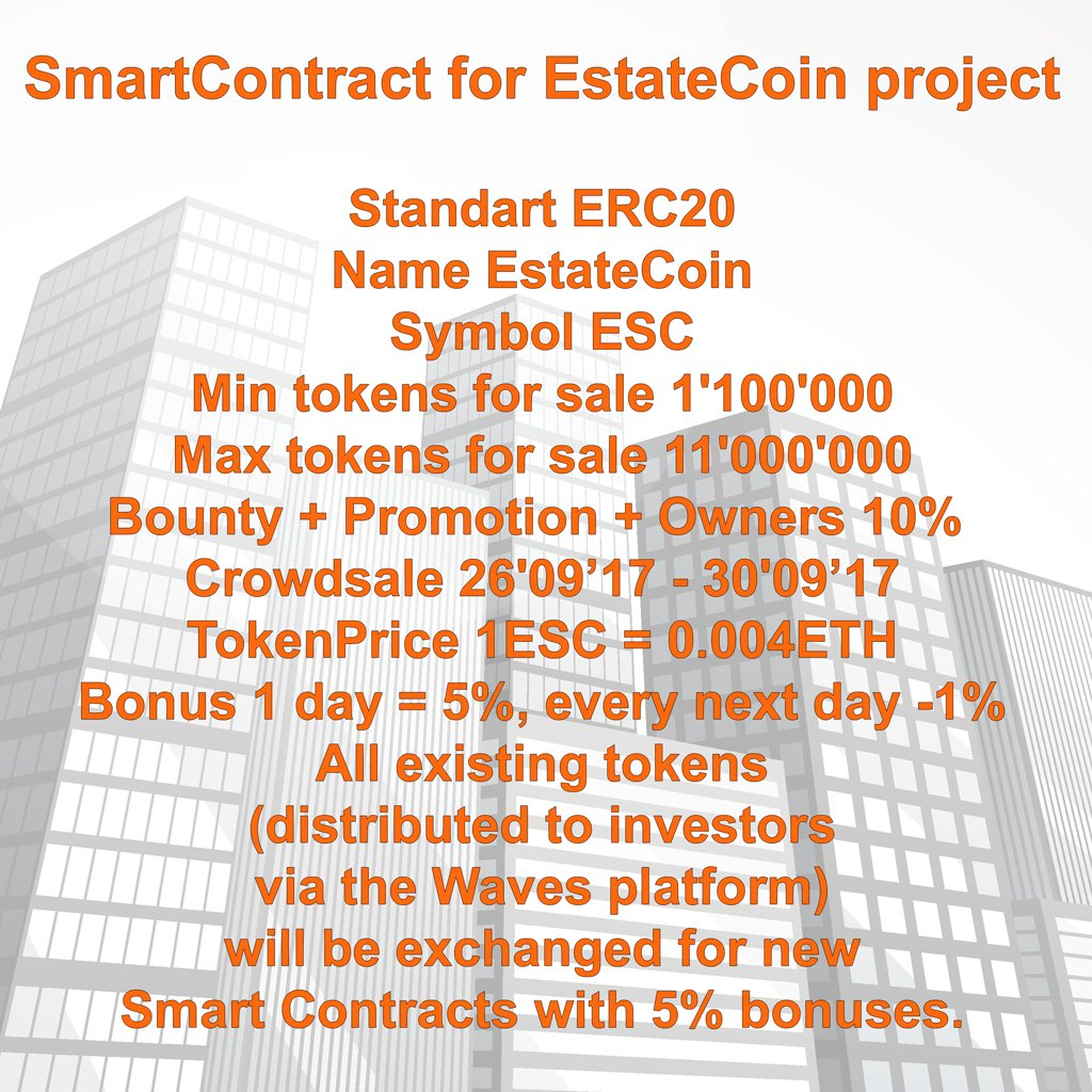 Important #announcement from the #EstateCoin team... #ICO #Investment #Inverstor<br>http://pic.twitter.com/ylLuc8pM4w