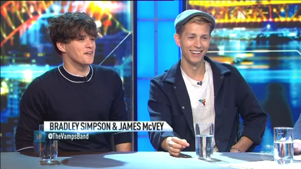 We're chatting to @TheVampsband live at the desk right now! #TheProjectTV https://t.co/YsM9mlgNzC