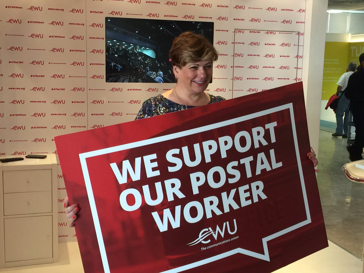 . @EmilyThornberry supporting Postal Workers #TheCWU #RiseUp 🦁 https:/...
