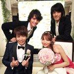 今日は芳賀優里亜さんと鎌苅健太さんのの結婚披露宴に行ってきました!!半田健人君と一緒にパチリ!!本当…