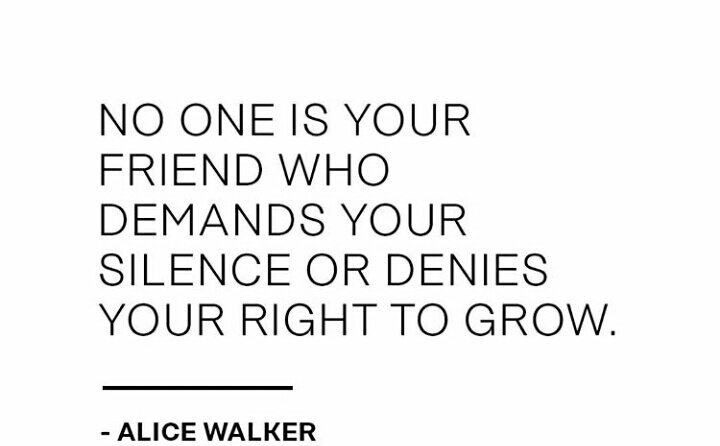 No one is your #friend who demands for #silence or denies your right to #grow. #AliceWalker #ThinkBIGSundayWithMarsha<br>http://pic.twitter.com/hyxig2OZZg
