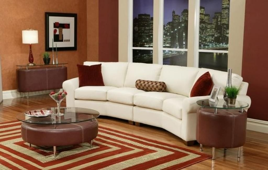 Looking leather sofa