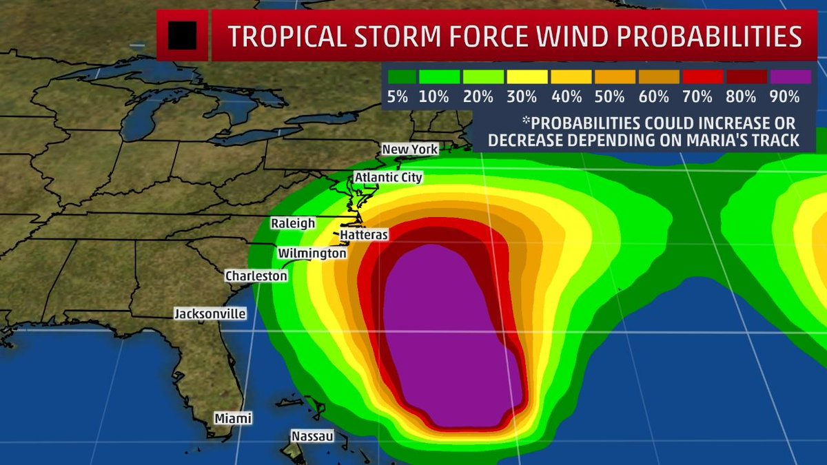 4 things to know about the potential impact of #Hurricane #Maria on the U.S. East Coast.   http:// wxch.nl/2hnBSJS  &nbsp;  <br>http://pic.twitter.com/zj5ltccS8M
