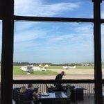 Quick lunch at the Hummingbird Restaurant @brightonairport before our flights #butterflies #avgeek