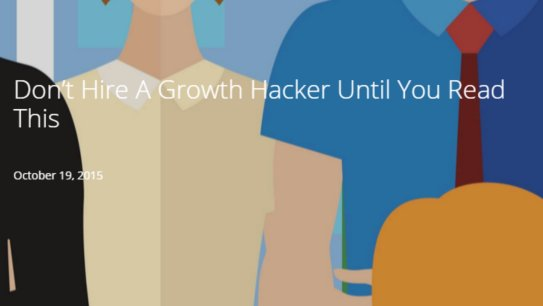 Don&#39;t hire a #GrowthHacker until you read this article by @MJB_SF - #GrowthMarketingConf -  http:// grwth.link/dont-hire-grow th-hacker &nbsp; … <br>http://pic.twitter.com/2geOwqjY4H