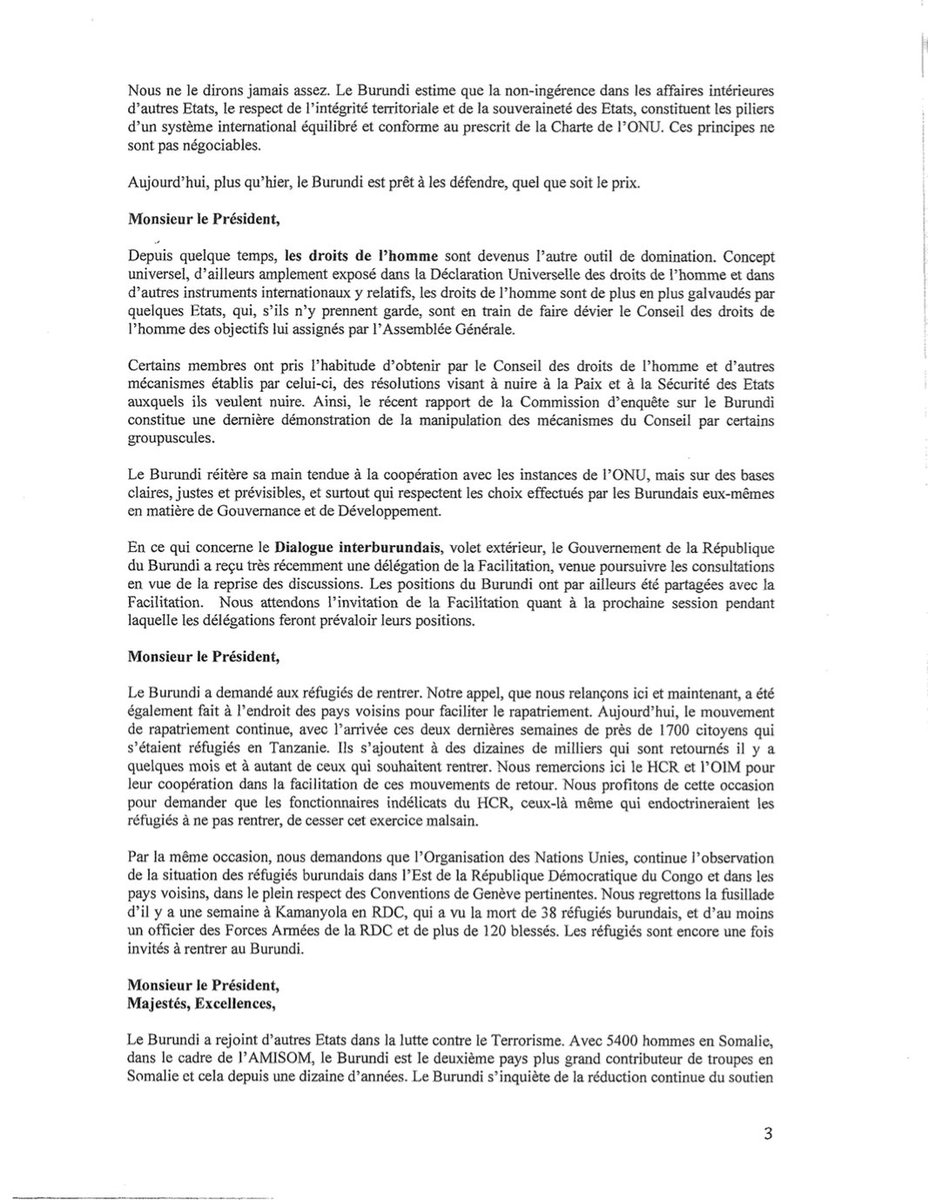 Pdraic on twitter heres the full text in french of burundis pdraic on twitter heres the full text in french of burundis statement to unga by mfa nyamitwe and a summary in english here stopboris Choice Image