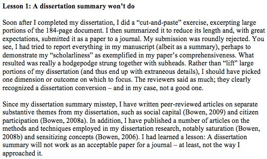 How to turn a qualitative PhD into a publishable journal article: 7 lessons learnt  https:// buff.ly/2fpdiIb  &nbsp;   #phdchat #phdlife #ecrchat #acwri<br>http://pic.twitter.com/ETzEVNhNeA