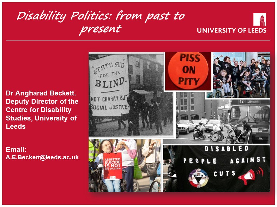 Getting ready for 1st lecture of term on my module &#39;Debates in #Disability Theory &amp; Research&#39;. We&#39;ll be talking about disability #politics <br>http://pic.twitter.com/UfgFtgAW48