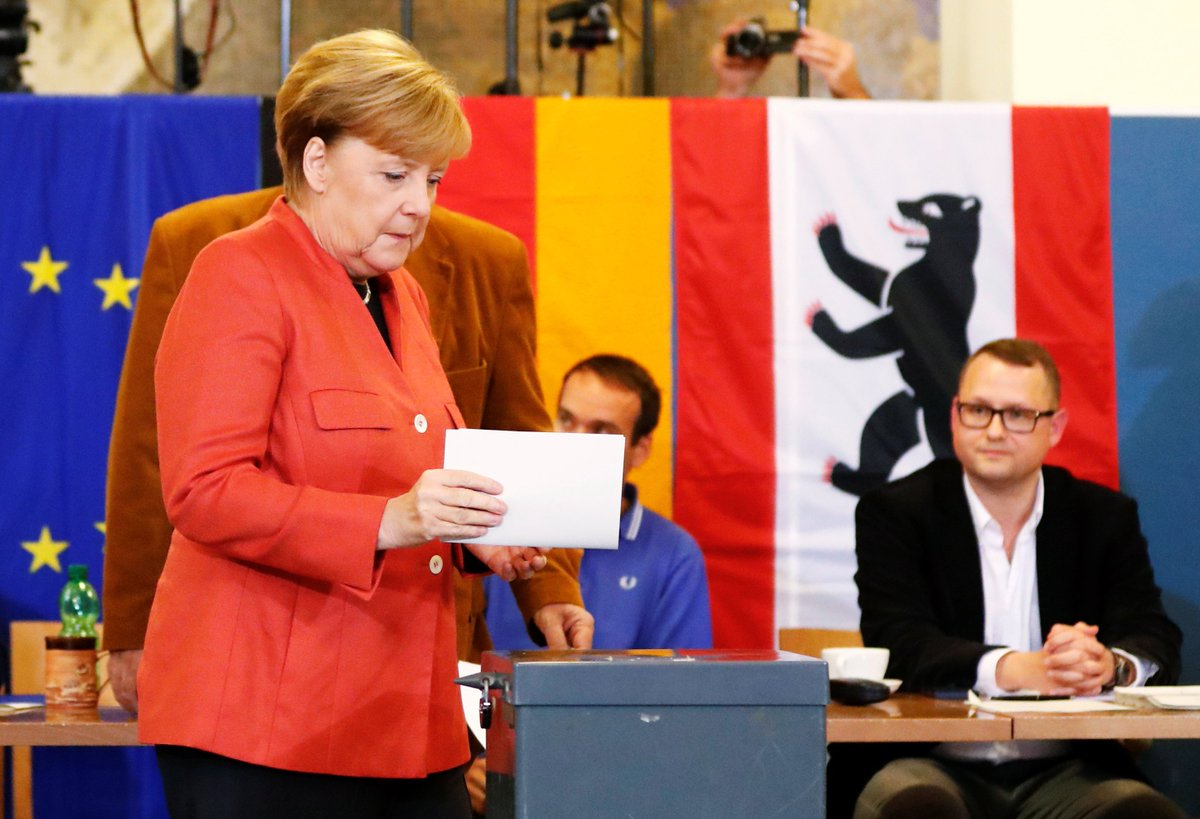 On the brink of a 4th term, German Chancellor Angela #Merkel casts her...