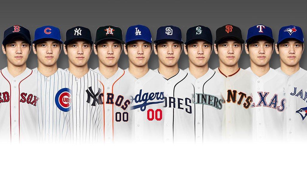 争奪戦必至の大谷翔平、どのチームのユニフォームが一番似合うと思う?  https://t.co/LxfjQYANTl MLB Japan公式インスタグラムができました! フォローはこちらから!https://t.co/IjzS4CGFI2