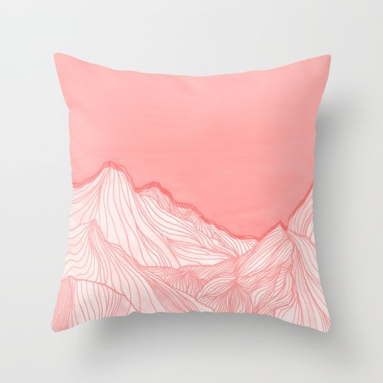 Lines in the mountains by #artist ViviGonzalezArt at #society6 !!! #pink #pillow #art #dorm #mountain #bed #bedroom  http:// bit.ly/2wMcDbn  &nbsp;  <br>http://pic.twitter.com/1P0CddYcyi