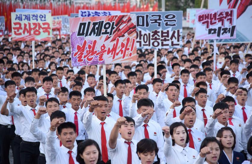 Trump cranks up North Korea threats as Pyongyang holds anti-U.S. rally https://t.co/7sBG3ETbx1