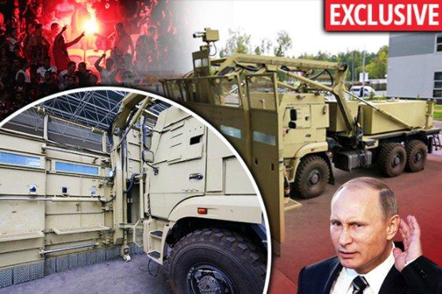 Putin unveils TERRIFYING weapon against football hooligans as English...