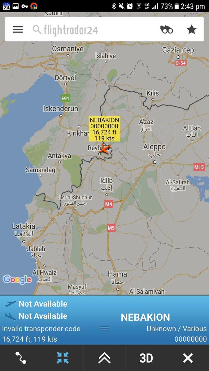 &#39;NEBAKION&#39;   Turkish Air Force #drone #UAV on the #Syria border   http:// fr24.com/NEBAKION/efaa0 50 &nbsp; … <br>http://pic.twitter.com/Nf8GDJVJOR