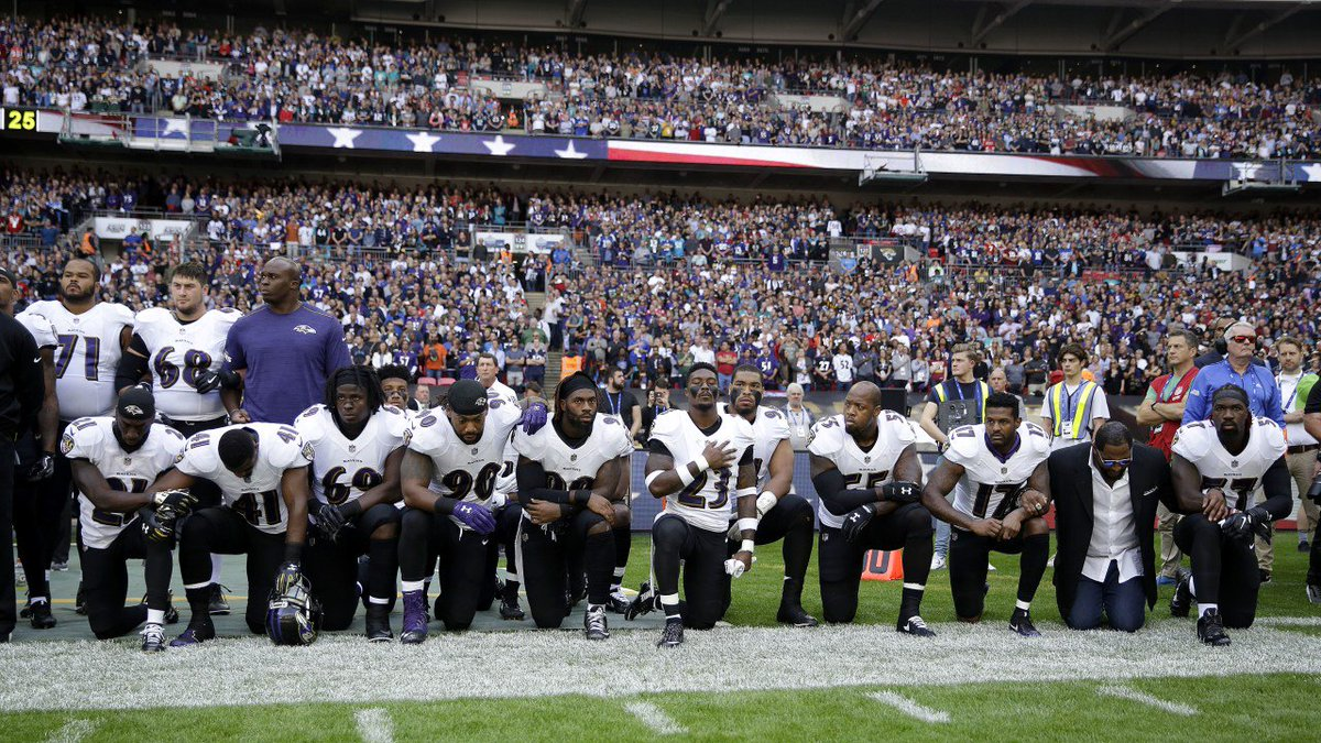 NFL players reject Trump's intimidation tactics, expand anthem protests in early morning game played in London https://t.co/S5BlcJVaE3