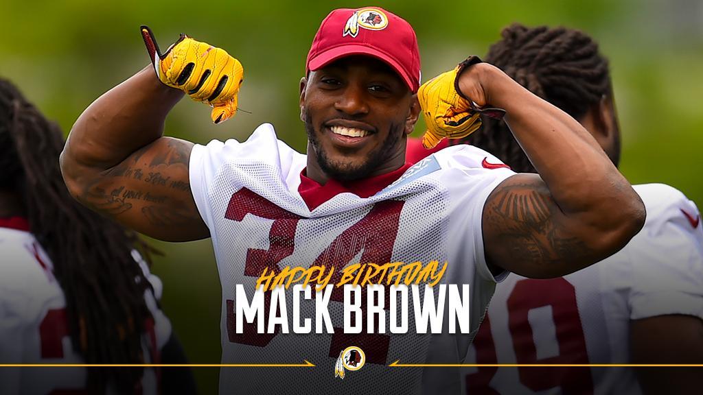 Wishing a happy birthday to #Redskins RB Mack Brown! #HTTR https://t.c...