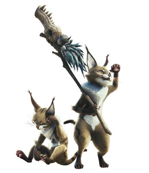 フィールドごとに部族を成す獣人族「テトルー」アイルーに近しい、新たな獣人族が登場。高密度な環境下で生きるモンスターならではの知恵を持ち合わせているようだ。オトモアイルーを介せば、テトルーと意思疎通を図ることができる。フィールドで見かけたら手助けをしてくれるかもしれない!