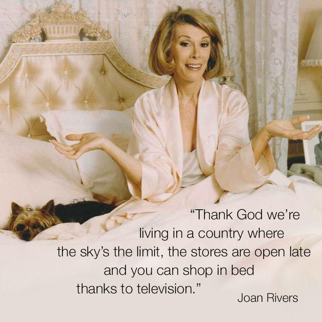 #WordsofJoan #JoanRivers https://t.co/ongicx8sUr