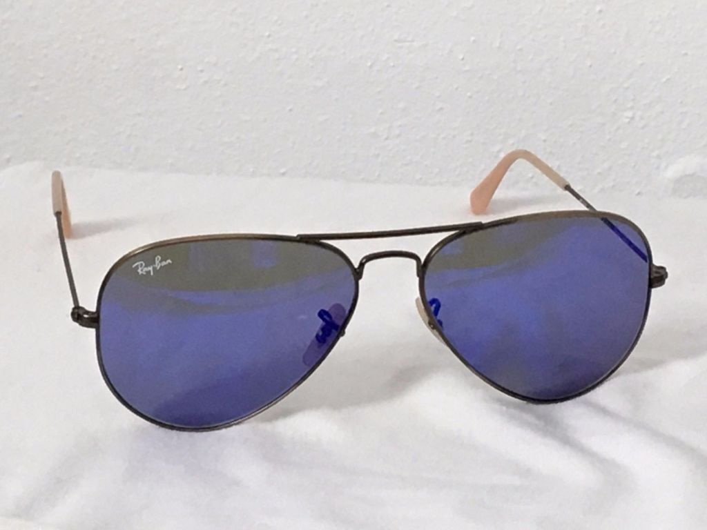 0b86acbce Ray Ban RB3025 58-14 Aviator Large Metal Sunglasses Purple Mirror Made in  Italy ...