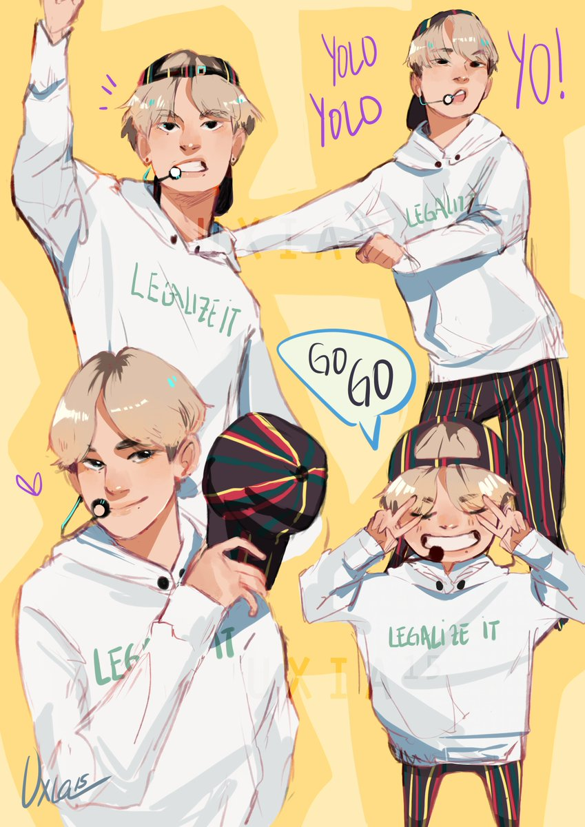 I made a couple of super quick doodles of Tae to practice because I find him so hard to draw ;;;;;;;; #BTSCOMEBACKSHOW #BTS #TAEHYUNG #방탄소년단<br>http://pic.twitter.com/nr2k0nDTvP