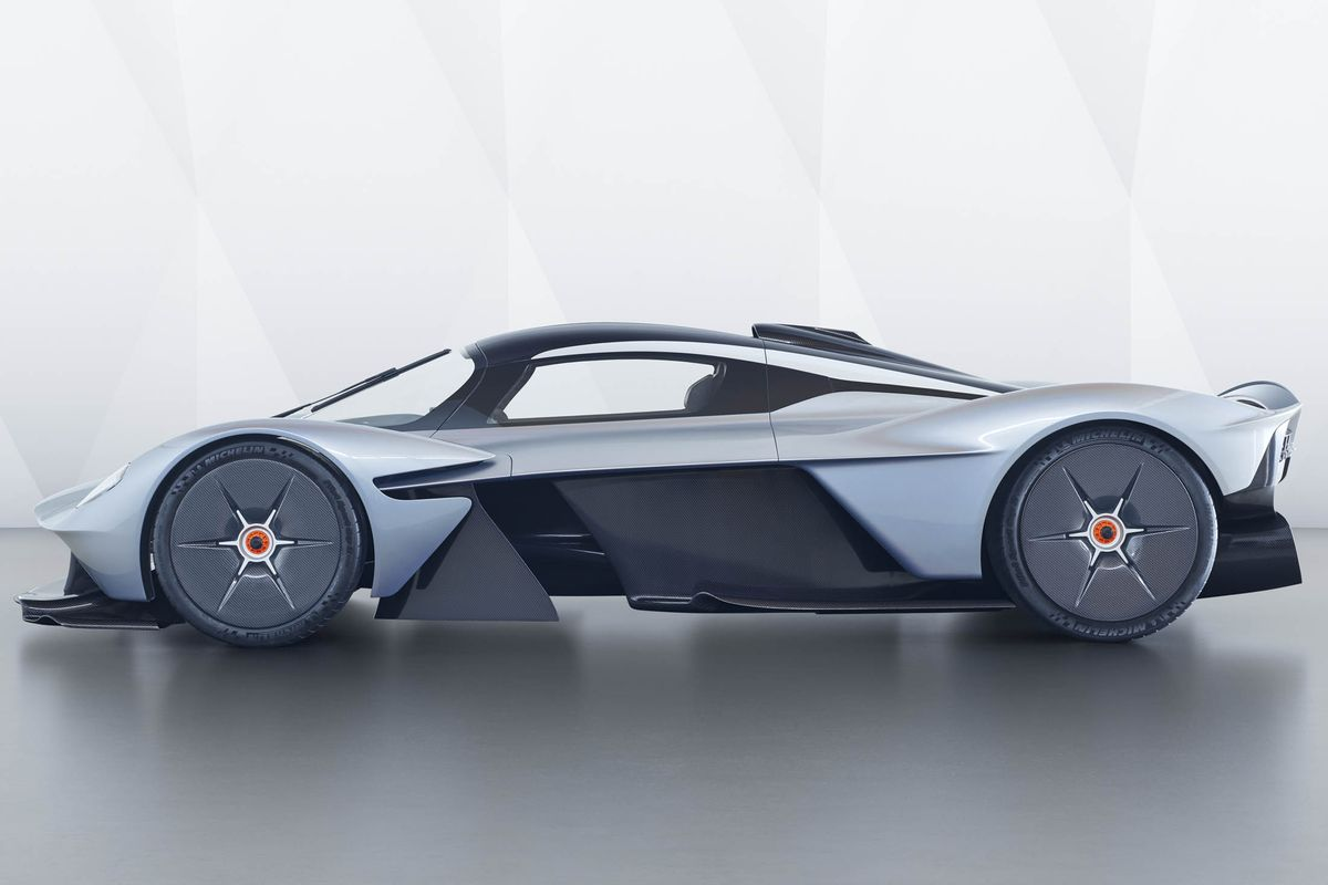 Getting fitted for the $2.6 million Aston Martin Valkyrie hypercar is...