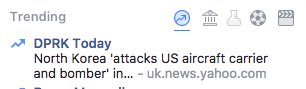 FACEBOOK TRENDING SERIOUSLY NEEDS TO BE CAREFUL ABOUT WHERE IT&#39;S STORIES CUT OFF. I THOUGHT WE WERE AT WAR.   #NorthKorea #Facebook <br>http://pic.twitter.com/e8qKe2tdIf