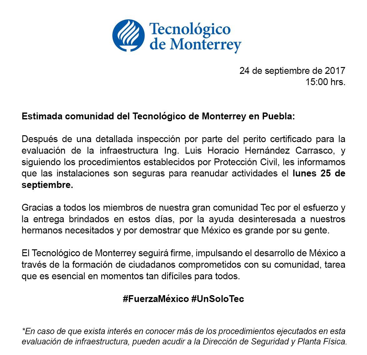 TEC Campus Puebla on Twitter: \