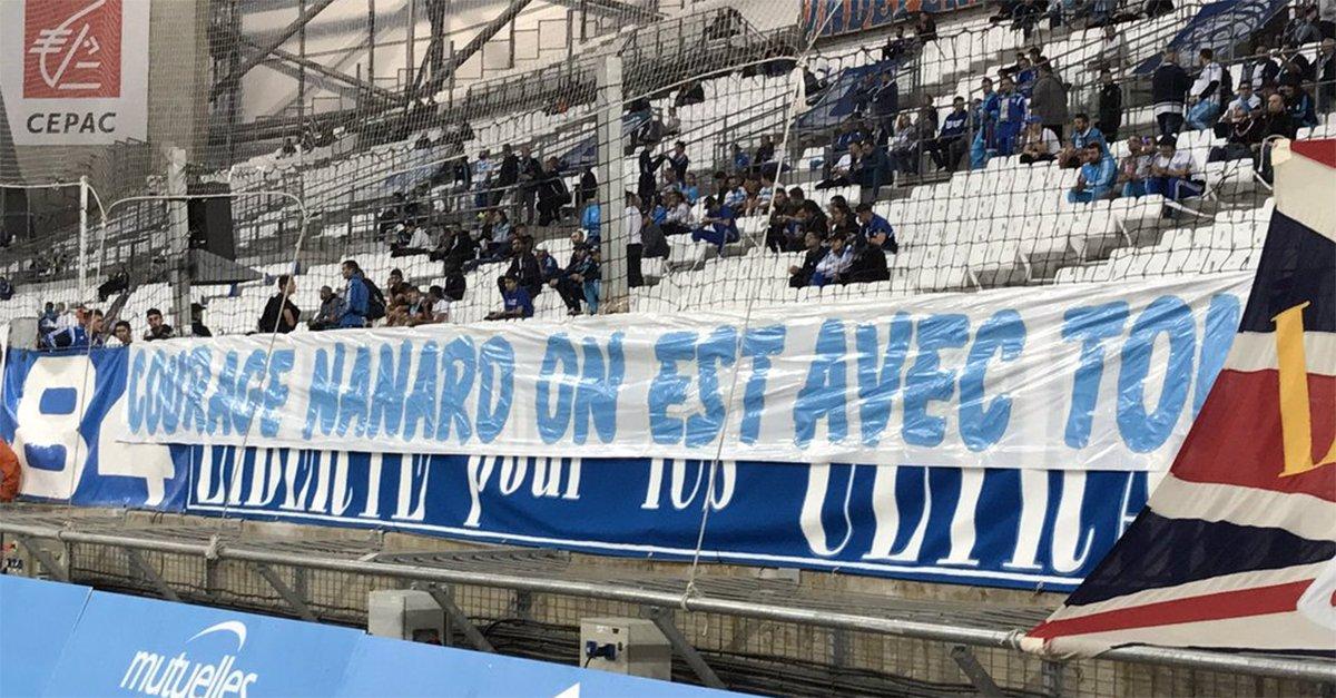 Le Stade Vélodrome a apporté son soutien à Bernard Tapie après l'annonce de la maladie de l'ancien dirigeant phocéen https://t.co/twGETqCULn