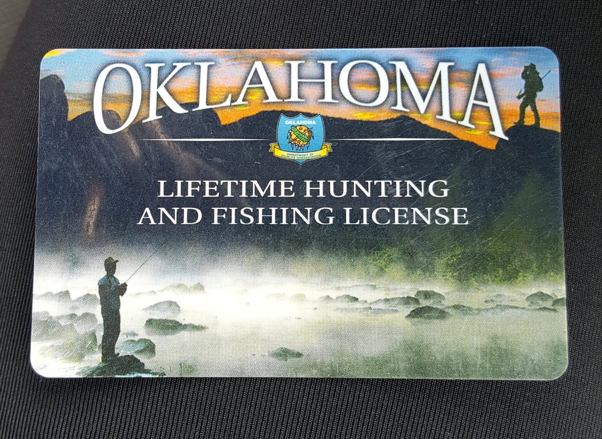 Oklahoma blonde on twitter oklahoma lifetime hunting and for Hunting fishing license