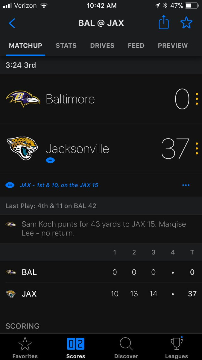 #RIP when you thought the ravens defense would be a good match up in fantasy. #BlakeBortlesIsElite