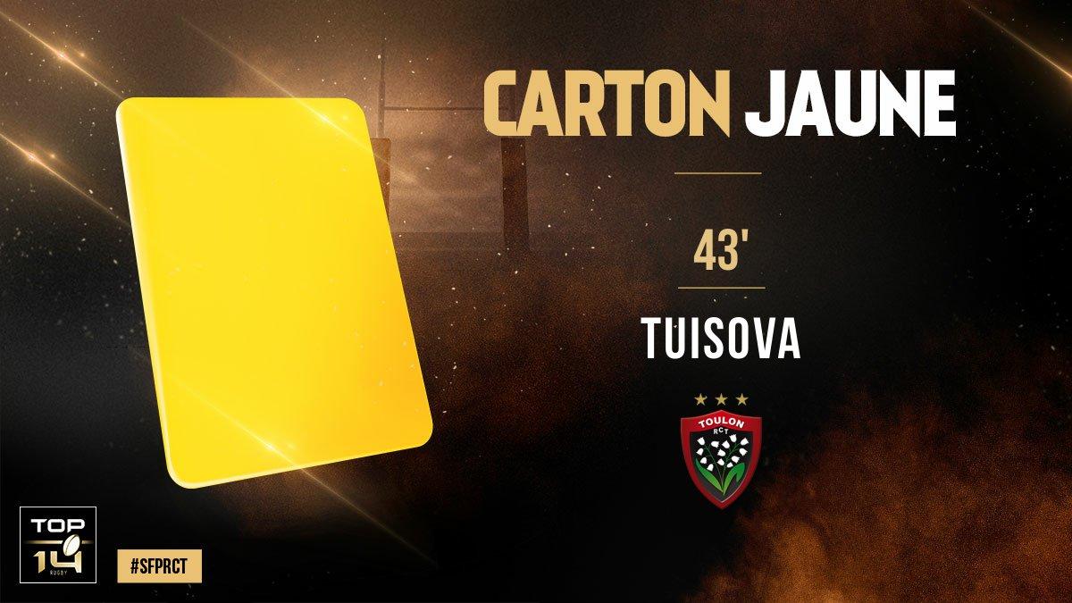 #TOP14, J5 | #SFPRCT ► Carton jaune pour...