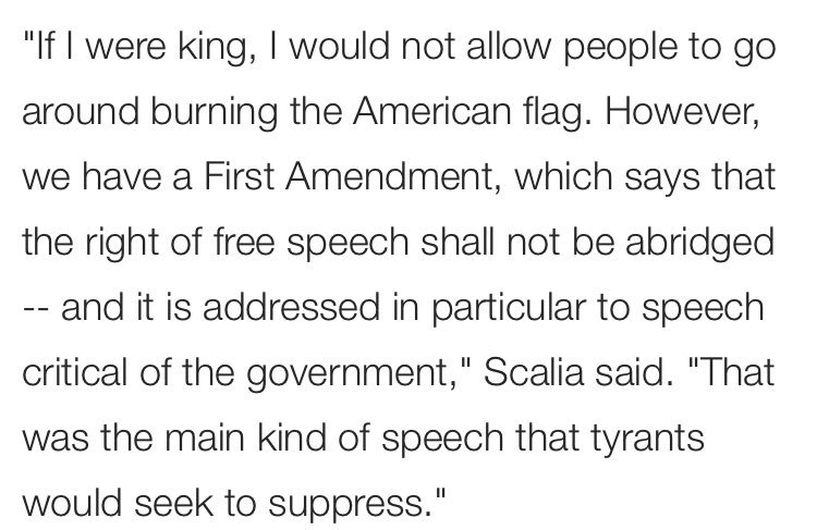 Here is a quote from flaming leftist and Antifa member Antonin Scalia:...