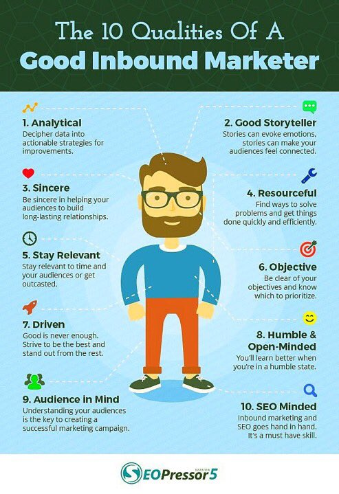 Qualities of #InboundMarketing #SEO #AI #SocialMedia #Contentmarketing #Mpgvip #defstar5 #Makeyourownlane #DigitalMarketing #Marketing<br>http://pic.twitter.com/nGJU7MsmXh