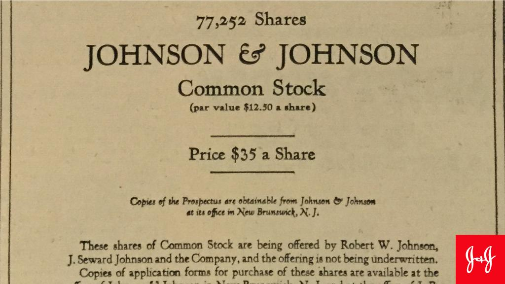 Happy anniversary to us! #DYK 73 years ago, #JNJ became a public company? Discover how we got to where we are today:  http:// goo.gl/LyYR85  &nbsp;  <br>http://pic.twitter.com/O2FJVVsUrv
