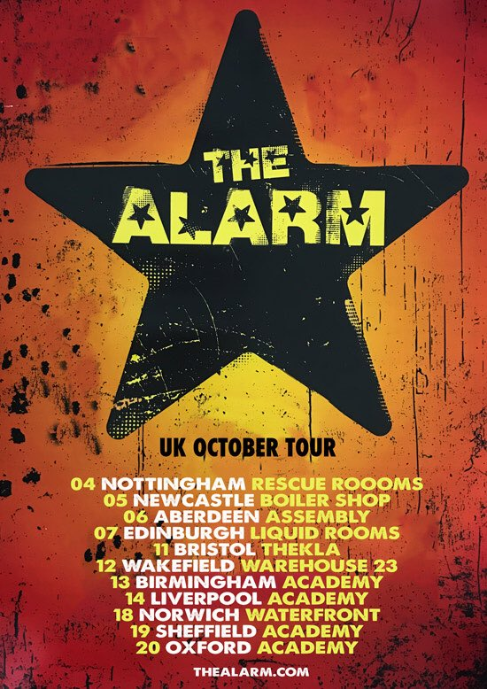 O.K. Alarm people! 11 days until @thealarm October Tour kicks into gear! What are you waiting for? Book tickets now! All info @thealarm #go <br>http://pic.twitter.com/r4b3dZ46zB