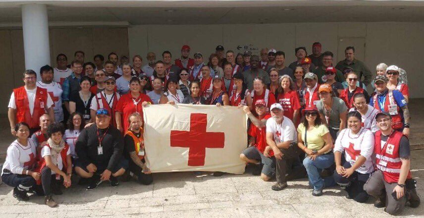 Thank U to my @RedCross teammates leaving lives and families back home to help citizens of Puerto Rico and USVI impacted by #Hurricanes <br>http://pic.twitter.com/hcFifML3W2