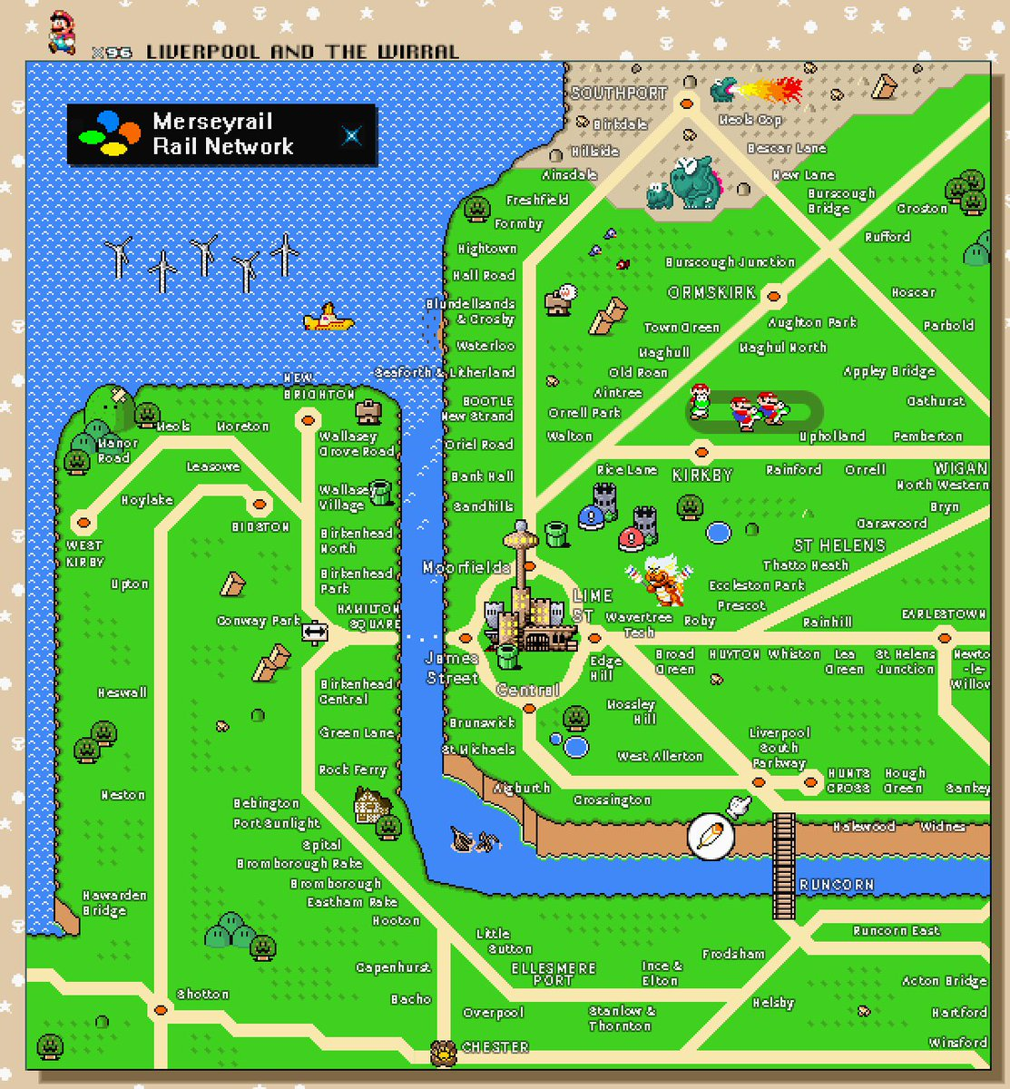 Tom German on Twitter Ive made a Super Mario World themed map of