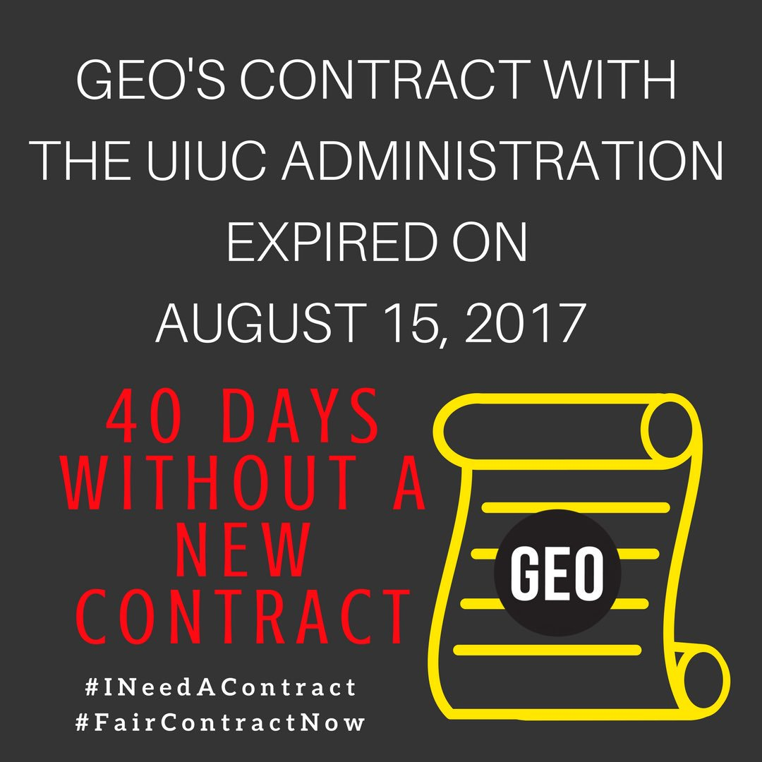 We have been working for 40 days (too many) without a new contract #FairContractNow #GradWorkers #UnionStrong #TheUniversityWorksBecauseWeDo<br>http://pic.twitter.com/ptMUi75JIq