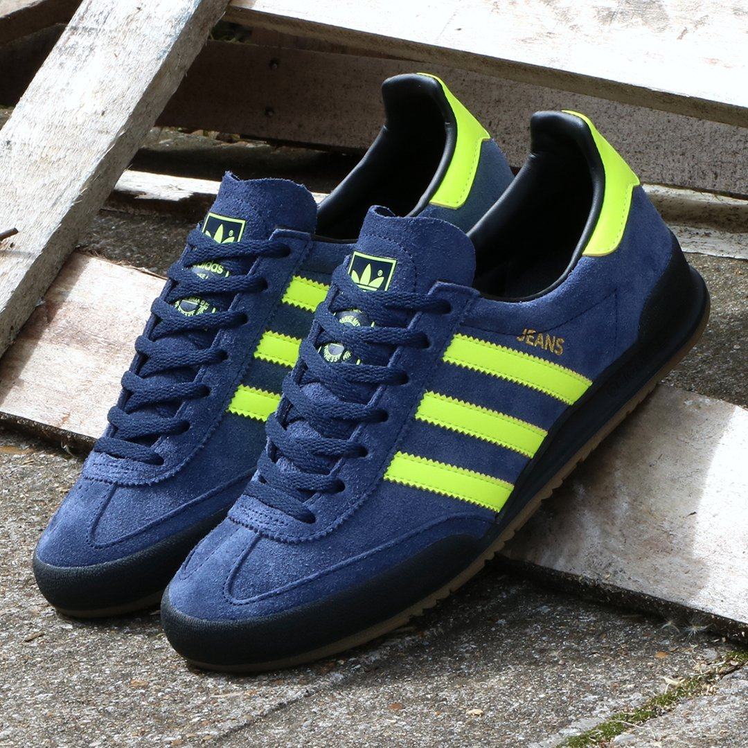 adidas Jeans in Navy/Solar Yellow £79