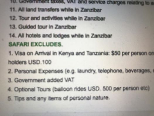 The most #expensive #words you NOT reading when you book your #tanzania #safari. Number 3 Government added VAT not included! and it&#39;s 18%!!<br>http://pic.twitter.com/xIz95LUZRP