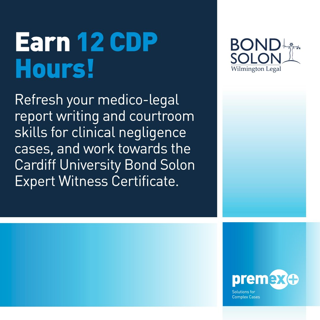 Are you a Premex+ medical expert? Don&#39;t miss our two-day #ClinicalNegligence workshop with @BondSolon in October:  http://www. premexplus.co.uk/expert-panel/s pecialist-expert-workshop/ &nbsp; … <br>http://pic.twitter.com/uzFh2ZgEmX