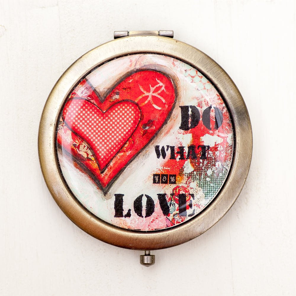 Compact Mirror - Do What You Love - Gift for Coworker - Purse Mirror - Graduation Gifts -  https:// seethis.co/57P1Xo/  &nbsp;   #mixedmediaart #giftforher<br>http://pic.twitter.com/vw9oR2IT0r