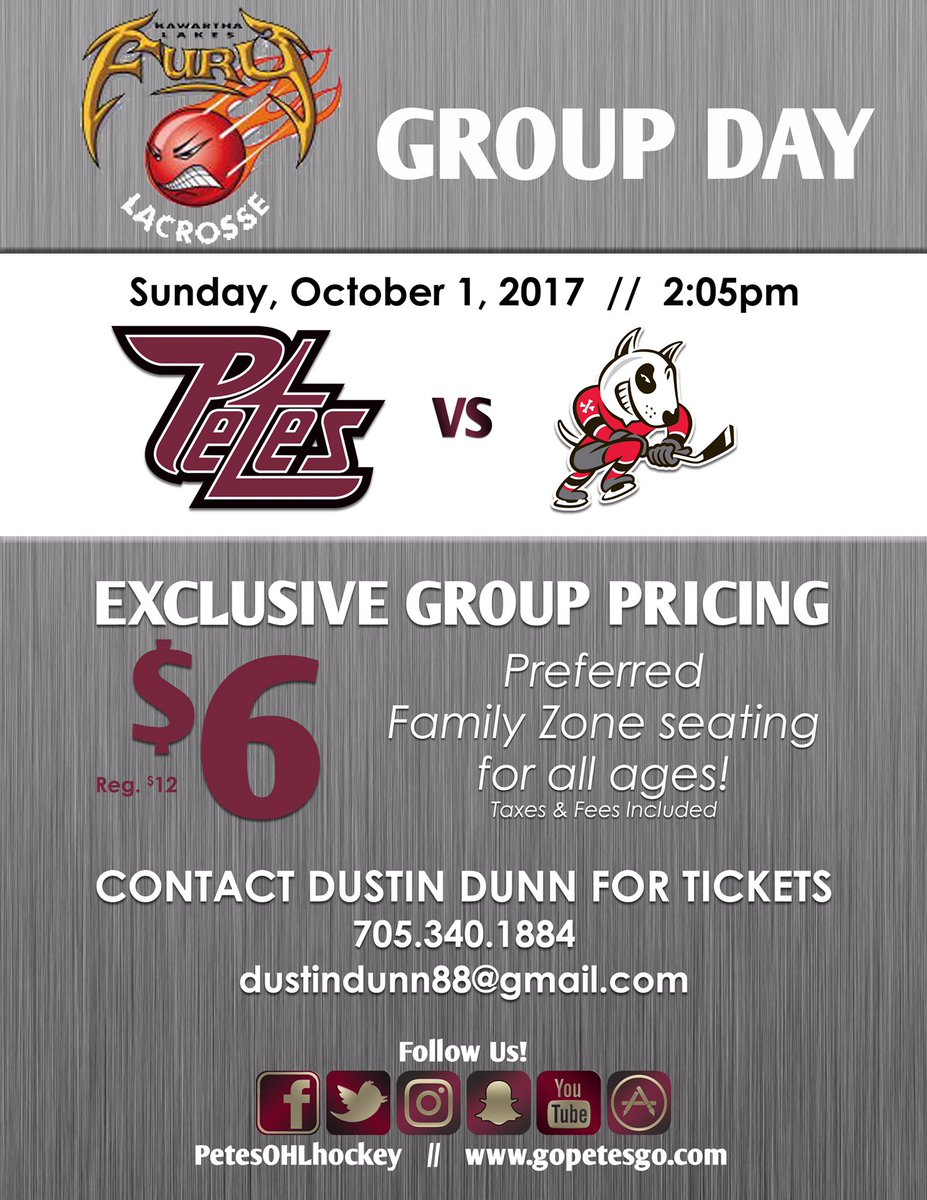 Hope to see many @KLMinorLacrosse players, coaches and families at the Petes game this Sunday afternoon - Oct 1 @ 2 pm ($6 all ages)! #LAX <br>http://pic.twitter.com/JQeC4uQk7x
