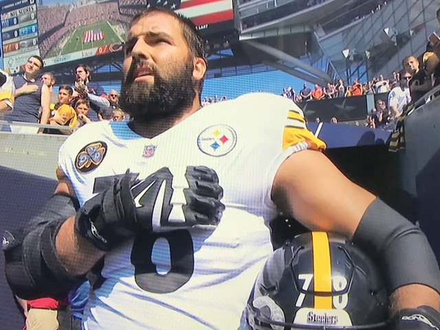 NFL player stands alone for anthem https://t.co/cGOZmpHcwW