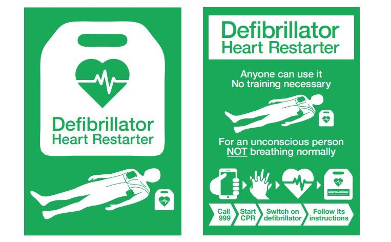 Please #RT #RetweeetPlease  This is the #new sinage from @TheBHF @ResusCouncilUK  If you witness a #cardiacarrest please look for this sign<br>http://pic.twitter.com/R41qYe6Whs