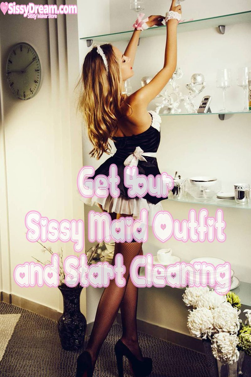 Always clean wearing a Maid outfit.   #sissy #feminization #transgender #captions<br>http://pic.twitter.com/xF9mNqlIkG