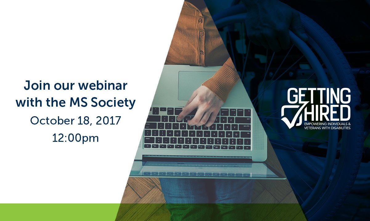 What are #employment issues experienced by individuals with #MS? Find out in our upcoming webinar with @mssociety  http:// bit.ly/2fKAHRj  &nbsp;  <br>http://pic.twitter.com/lCCTyZ5VaT