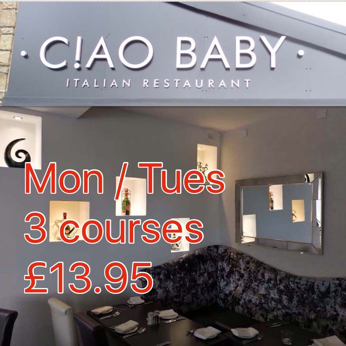 Pls RT , Every Monday and Tuesday - 3 courses for £13.95* #Bolton #Italian #restaurant #food #Monday #Tuesday<br>http://pic.twitter.com/aQXzlDGeEf